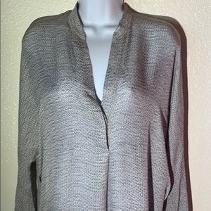 Vince Cable Knit pattern 100% Silk Blouse sz S